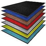 casa pura Premium Fußmatte in attraktiver Optik | Schmutzfangmatte in vielen Größen | schwarz | 90x120cm