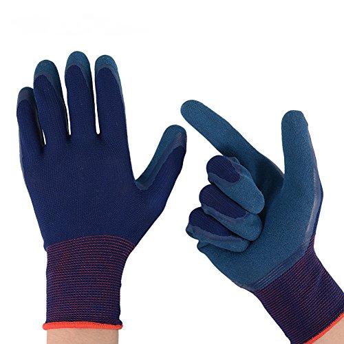 2 Paar Gartenhandschuhe Größe M(8) Arbeitshandschuhe für damen und herren Schutzhandschuhe mit Latex Beschichtung für Garten, Küche, Bau, Schutzhandschuhe von Zapo