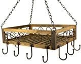 Topfhänger 83043 Pfannenhänger 40 cm Deckenregal Hängeregal Hänger Wurstkrone