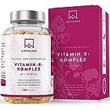 Vitamin B Komplex mit Biotin und Vitamin B12-180 Stück - mit Vitamin B1, B2, B3, B5, B6, B7 und B9 - Unterstützt das Wohlbefinden - Frei von Zusatzstoffen, 100% Vegan - Hergestellt in der EU