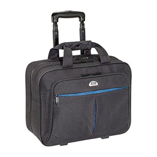 PEDEA Business Laptop-Rollkoffer 'Premium-Air' Trolley Rollkoffer Koffer Reisekoffer Tasche inkl. Fach für Notebooks bis 17,3 Zoll (43,9 cm), schwarz