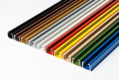 glänzend einläufig Gardinenschiene aus Aluminium (Weiß Gardinenschiene mit Faltenlegehaken, 320cm) Deckenbefestigung mit SMART-KLICK Montage, Innenlaufschiene Vorhangstange für Schiebevorhänge, Gardinen, Vorhänge