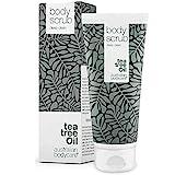 Australian Bodycare Body Scrub - Körperpeeling mit Teebaumöl gegen Pickel, unreine Haut, eingewachsene Haare und trockene Haut. Vegan und ohne Parabene (200 ml)