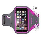 Haissky Sport Armband für iPhone XS Max/XS/XR/X/8 Plus/7 Plus,Universell Handyhülle mit Schlüsselhalter Ideal für Laufen Wandern Jogging, Kompatibel mit Samsung Galaxy S8/S8 Plus/S7/S7 Edge bis 6.2'