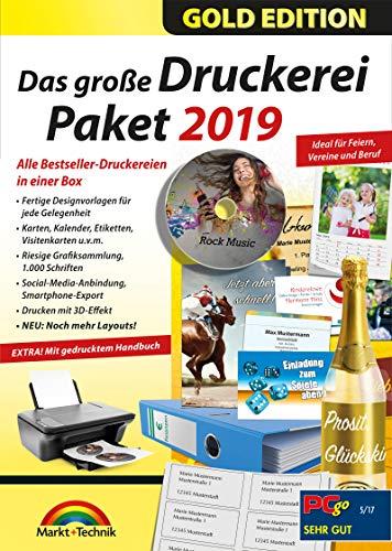 Das große Druckerei Paket 2019 - Einladungen, Glückwunsch Karten, Etiketten, CD-DVD Labels, Visitenkarten