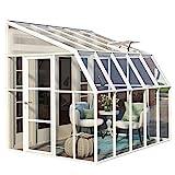 RION Kunststoff Anlehngewächshaus, Tomatenhaus, Wintergarten 'Sun Room 45' // 322 x 258 x 266 cm // inkl. Dachfenster