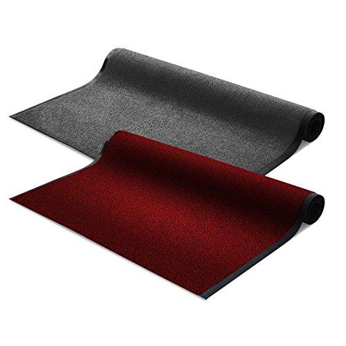 Floordirekt EVEREST Schmutzfangmatte Schmutzfangläufer Sky | rot | ideale Größe wählbar, Meterware (300x120cm)