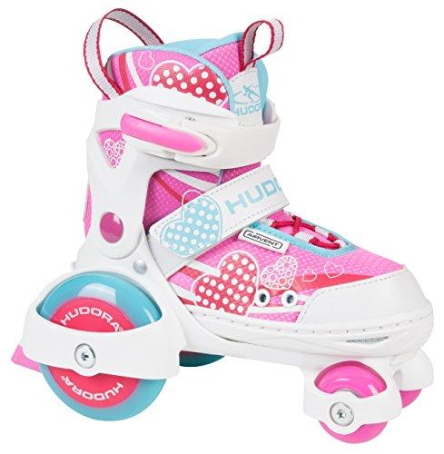 HUDORA Rollschuhe My First Quad 2.0 Girl, Gr. 26-29 - Roller-Skates Mädchen - 22042