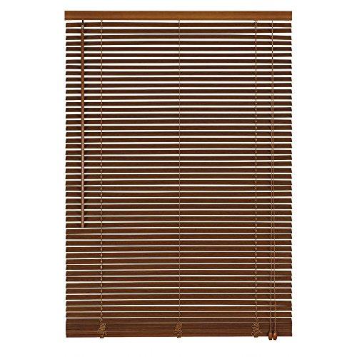 Easy-Shadow Holzjalousie Holz-Jalousie Bambus Jalousette Echtholz Rollo Jalousette 80 x 200 cm / 80x200 cm in Farbe braun - Bedienseite rechts // Maßanfertigung
