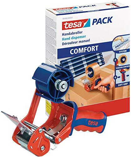 tesa 6400 Packband Handabroller Packbandabroller Klebebandabroller Comfort, Menge:1