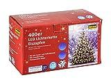 Idena LED Lichterkette Eiszapfen für innen und außen, 400er, mit Timer, warm weiß, 31819