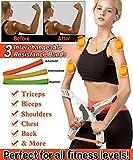 Roseate Arm Machine Workout Widerstand Trainingsgerät Unterarm Handgelenkstrainer Kraft Arm with 3 Resistance Bands