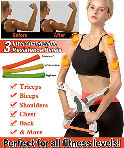Roseate Arm Machine Workout Widerstand Trainingsgerät Unterarm Handgelenkstrainer Kraft Arm with 3 Resistance Bands