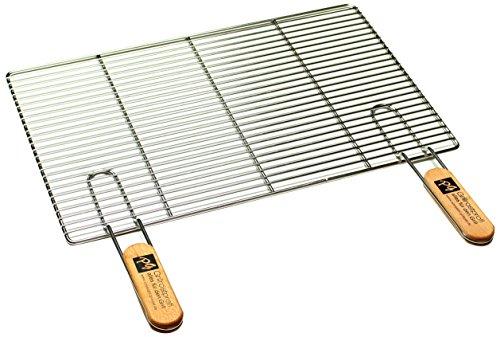 Edelstahl Rost Grillrost - rechteckig und rund - Grill Rost Grössenauswahl (54 x 34 cm mit Griffen)