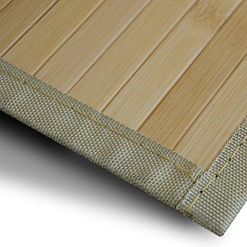 Bambusteppich Marigold | für Bad und Wohnzimmer | natürlich wohnen mit 100% echtem Bambus | Bambusmatte in vielen Größen (120x180 cm)