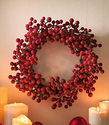 TFH Dekokranz Beeren Kranz rot Türkranz Tischkranz Herbst Winter