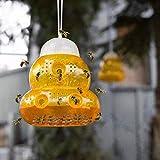 YFMXO Wespenfalle, Wiederverwendbare Wespenfänger aus Kunststoff Fliegenfalle Insektenfalle Hornisse Hanging Traps, für Bauernhof, Garten, Yard