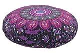 HOME DK Kissen Yogakissen Sitzkissen rund Mandala Muster bunt (LI)