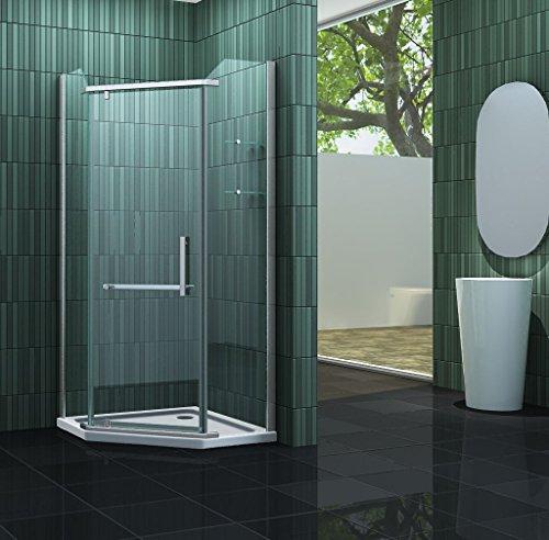 Fünfeck-Duschkabine FIVE 90 x 90 x 195 cm ohne Duschtasse