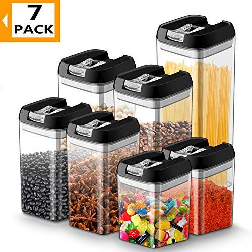 Vorratsdosen für Lebensmittel 7 teilige Set, JOLVVN Vorratsbehälter mit luftdichtem Deckel Frischhaltedosen aus langlebigem Kunststoff, BPA-frei, um Lebensmittel frisch zu halten