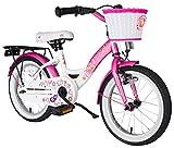 BIKESTAR–Klassische Fahrrad für Kinder, 40.6cm, Pink und Weiß