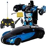RC Fernbedienung Roboter 2 in 1 RC Auto Sport Verwandeln 1:12 Bugatti Rambo Auto Transformers Roboter Spielzeug Elektroauto Modell mit Fernbedienung Kampf Spielzeug für Kinder
