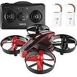 SANRCOK Mini Drohne für Anfänger GD65A RC Drone Quadrocopter mit Höhe-halten, Kopflos-Modus, EIN-Tasten-Rückkehr, Spielzeug Drone für Kinder, Farbe rot