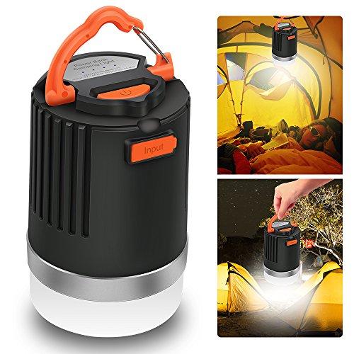 LED Campinglampe, ELEPOWSTAR Camping Laterne IP65 wasserdichte Campingleuchte, USB USB aufladbar, 4 Lichtmodi, magnetisch Powerbank (8000 mAh)