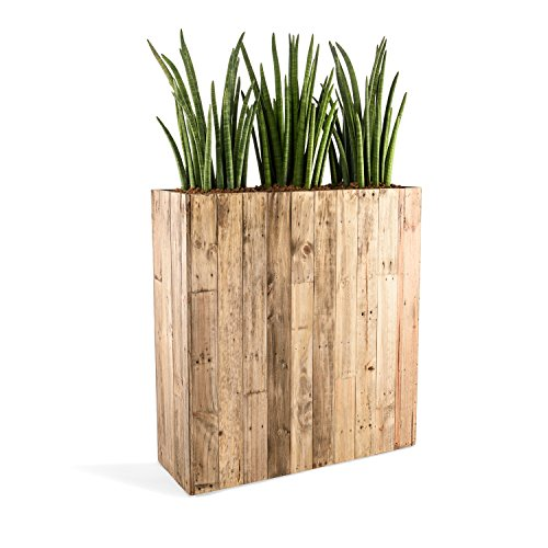 Raumteiler 'Woodline High Box' Dark Flame Wood Rechteckig 100x93.5x33.5cm - F475
