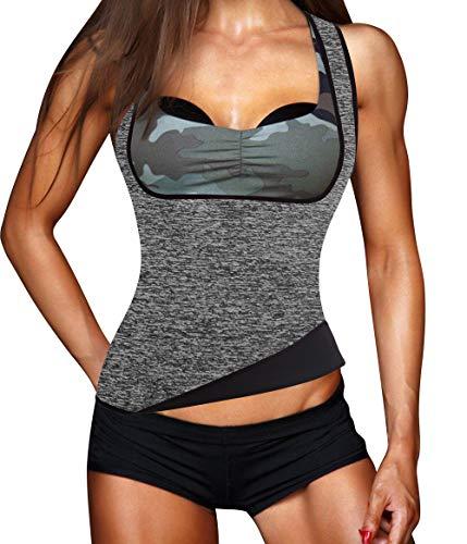 Bingrong Frauen Fitness figurformend Unterbrust Taillenmieder Bauchweg & Sauna Schwitzeffekt Sport Training Body Shapewear flexibel stark formend Taillenformer Neopren Weste (6 Größen verfügbar)