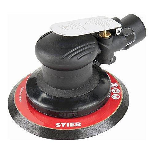 STIER Exzenterschleifer | EXS-120 | Länge 187 mm | Schleifteller 150 mm | geeignet für Nass- und Trockenschliff | mit Kletthaftung |