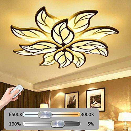 LED Deckenleuchte Wohnzimmerlampe Moderne Kunst Designer-Lampe Kreativ Metall Acryl Blattform Romantisch und warm Decke Leuchte Deckenlampe Innenraumlampe Beleuchtung Schlafzimmer Küche Dimmbar 120W