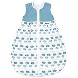Emma & Noah Baby Schlafsack, Kugelschlafsack, Übergangsschlafsack (1.0 Tog), 100% Baumwolle, Größe: 70 cm, Farbe: Junge, ideal als Babyschlafsack