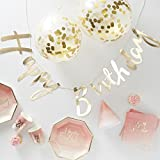 Ginger Ray 'Party in a Box': Komplettes Partyset Geburtstag Gold/Ombre