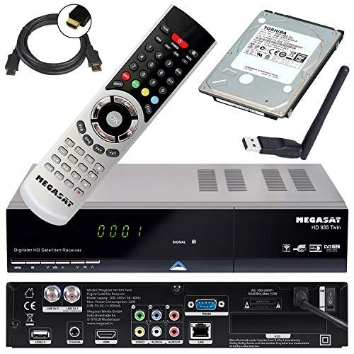 Megasat HD Twin Sat Receiver HD 935 mit 1 TB Festplatte und W-LAN Stick (PVR, USB, LAN, W-LAN, HDMI, SCART) Mediacenter und Live TV auf Ihrem mobilen Geräten