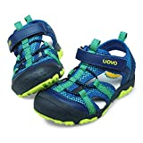 UOVO Sommer Strand Geschlossene Sandalen Klettverschluss Outdoor Wanderschuhe Ultraleicht Breathable Schuhe Flach Kinder Jungen 31 Blau