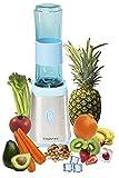 SUNTEC Smoothie Maker SMO-9936 [Inkl. 2 Sportflaschen à 600 ml mit Karabinerverschluss, auch für Eis geeignet, NEU: max. 350 Watt]