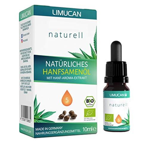 Premium Bio Hanföl - zu 100% natürliches Hanföl Tropfen mit 10 ml Inhalt - Voll-Spektrum Hanf Öl - Made in Germany
