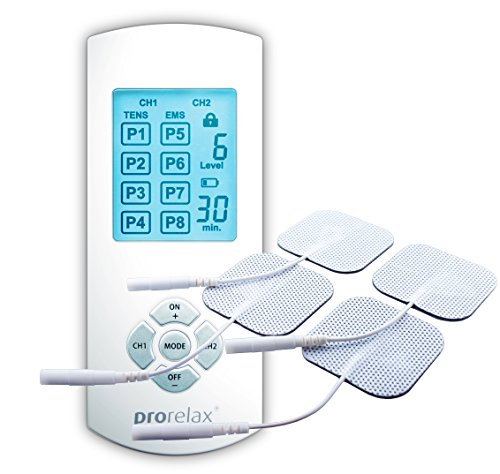 prorelax 51944 TENS+EMS Duo Comfort Natürliche Therapie gegen chronische Schmerzen und zum Muskelaufbau