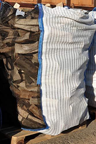 5 x Hochwertiger Holz Big Bag speziell für Brennholz * Woodbag, Holzbag, Brennholzsack * 100x100x160cm * Netzgittergewebe * Holz trocknen + transportieren (OHNE Inhalt)