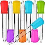 8 Stück Liquid Dropper, SENHAI Silikon und Plastik Pipetten Transfer Eyedropper mit Birne Spitze für Süßigkeiten Öl Küche Kinder Gummy Making - 7 Farben