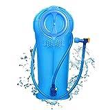 Unigear Trinkblase, 2L, 2,5L, 3L Hydration Blase staubdichte und antimikrobielle Hydration Bladder Wasserblase Trinkbeutel Wassertank mit Schlauch ALS Trinksystem MEHRWEG (3L-Blau)