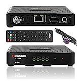 Octagon SX88+ CA HD HEVC Full HD LAN USB H.265 Multistream Sat DVB-S2 Receiver IPTV, Youtube, Xtream, Stalker, IR Sensor, Schwarz