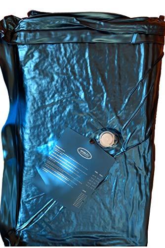 WABEZU Einzelner Dual Wasserkern Wasserbettmatratze 90x200 cm für 180x200 cm Softside Wasserbett (F4 90% Beruhigung)