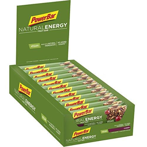 PowerBar Energieriegel Natural Energy Fruit Bar - Fruchtriegel + Magnesium bei erhöhtem Energiebedarf - Vegan - 24 x 40g Cranberry