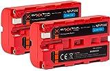 2X BAXXTAR PRO - Ersatz für Akku Sony NP-F550 (echte 3000mAh)