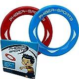 PHIBER-SPORTS Frisbee-Ringe - 2er Doppelpack Premium Wurfringe - 80% Leichter als Standard Frisbee Scheiben - Einfach zu fangen - Perfekte Flugbahn - Ideal für Kinder und Erwachsene