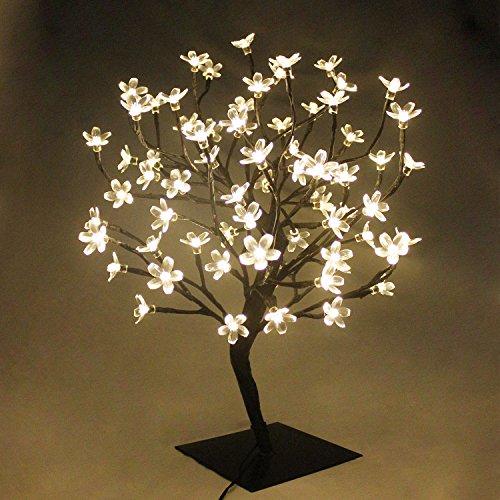 PMS 90er LED Baum 60cm Hoch Kirschbaum Lichterbaum Baum Lichterkette Weihnachten Innen (Warmweiß)