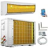 A++/A++ ECO Smart Inverter WiFi WLAN Golden-Fin 9000 BTU 2,6 kW Split Klimaanlage mit Wärmepumpe INVERTER Klimagerät und Heizung SmartHome