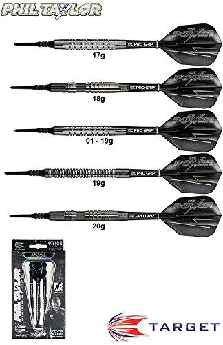 Darts TARGET 8ZERO Black 80% (Phil Taylor) Tungsten Softdarts